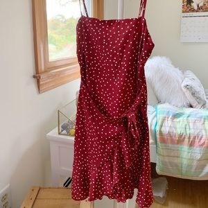 Princess Polly Red Caesura Dress